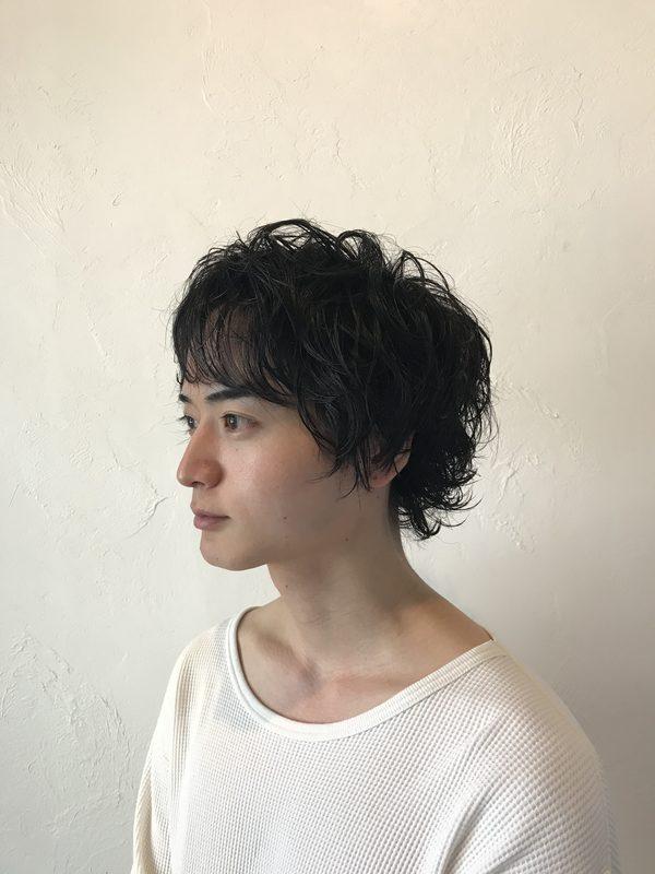 【福岡今泉の美容室miroa】メンズパーマ♪おしゃれウルフで✨