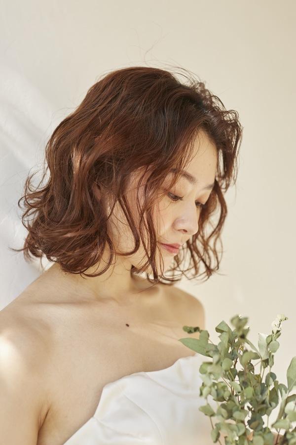 【天神 今泉の美容室miroa】ショート、ボブの花嫁アレンジ